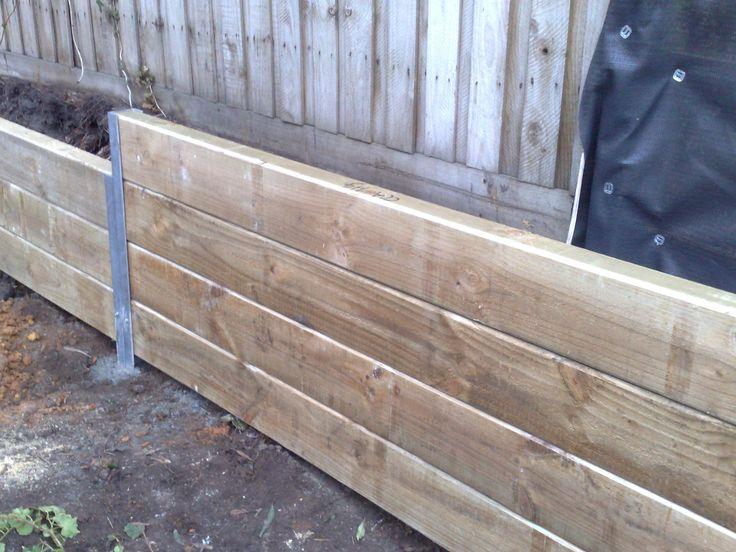 Timber retaining wall, Corey's plan