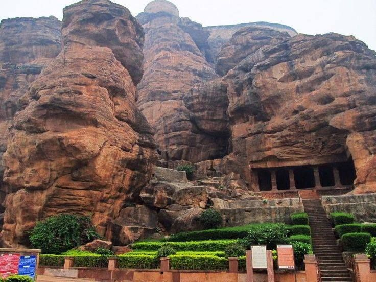 The Badami cave temples are a complex of temples located at #Badami, a town in the #Bagalkot District in the north part of Karnataka, India.