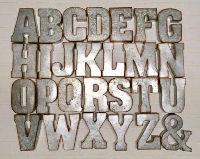 Metal Letters Galvanized 21