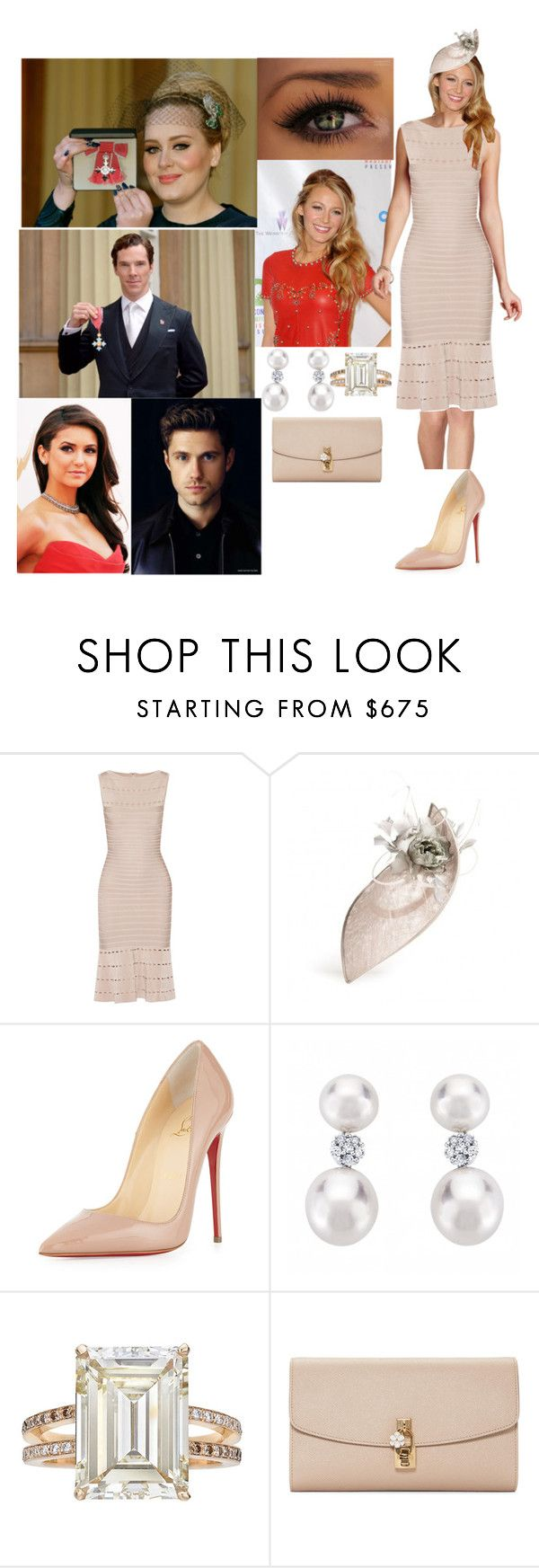 """(READ!!!) Princess Dawn at Buckingham Palace to see Elena Dobrev and William 'Tripp' Van der bilt III o get there CBE and MBE"" by dawn-wales ❤ liked on Polyvore featuring Isabel Marant, Hervé Léger, Christian Louboutin, Betteridge and Dolce&Gabbana"