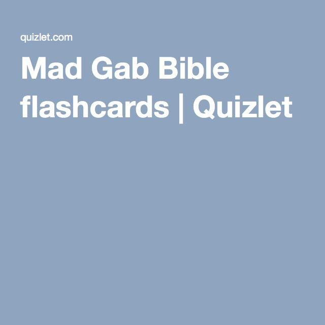 Mad Gab Bible flashcards | Quizlet