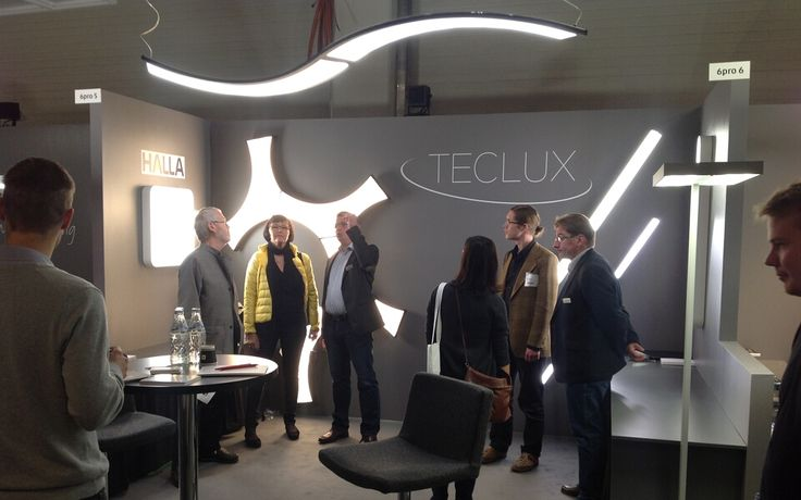 HALLA luminaires in #Helsinki at Valo #Light 2013 #exhibition together with our partner TECLUX from #Finland