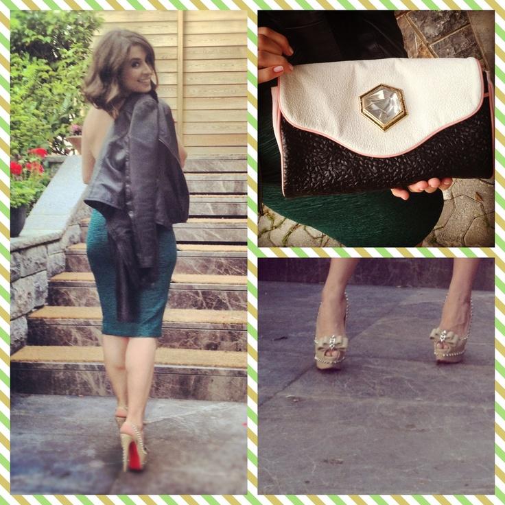 Dress/Elbise: Bozz Sisters  Canta/Bag: Balenciaga   Ayakkabi/Shoes: Christian Louboutin