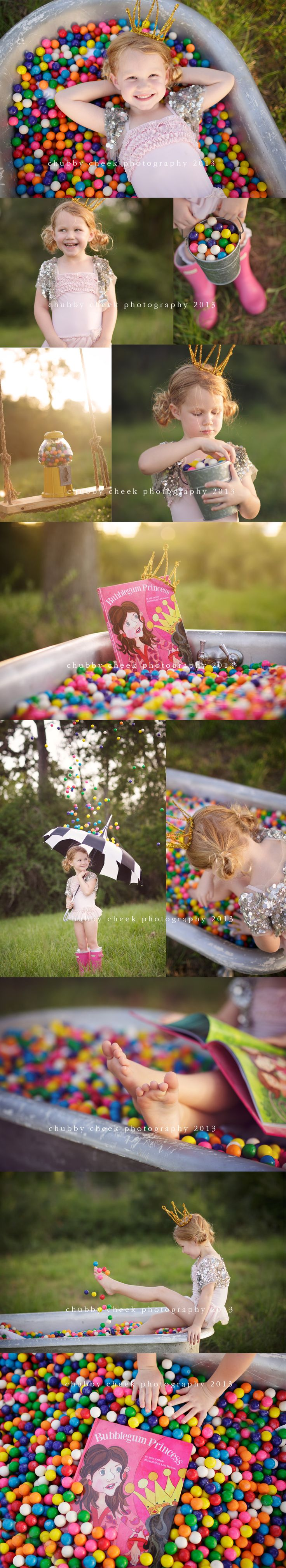 chubby cheek photography houston….what a cute idea!!! raining gum balls wearing rain boots and all ;)