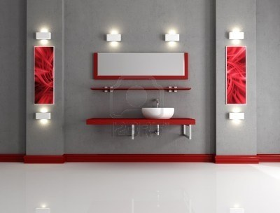 17 best images about red and grey bathroom on pinterest for Red and grey bathroom accessories