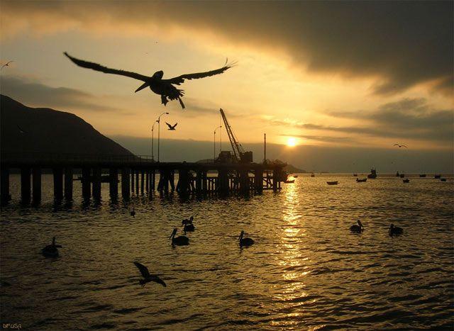 Sunset in Antofagasta, Chile