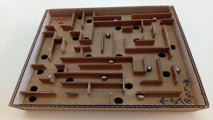 AMAZING Board Game Marble Labyrinth Cardboard DIY HOW TO https://www.youtube.com/watch?v=PzgU48yba70&t=3s