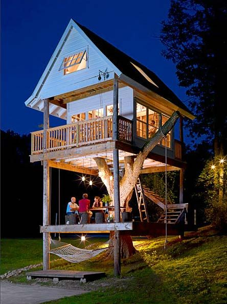 treehouse designIdeas, Guesthouse, Tree Houses, Guest House, Dreams House, Treehouse, Trees House, Kids, Backyards