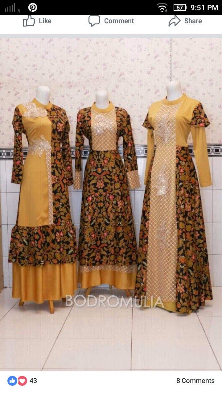 Pin Oleh Nurul Istiqomah Di Muslim Fashion Dress Pakaian Wanita Model Baju Wanita Model Pakaian Wanita