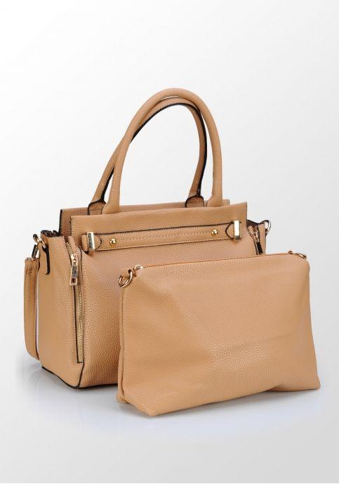 Clotier, geantă încăpătoare cu plic, maro