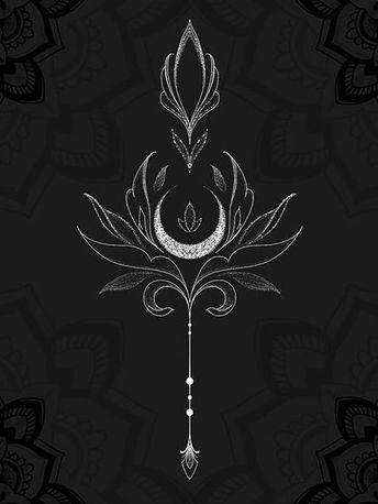 Sage, art nouveau style, crescent moon, metal/wire…