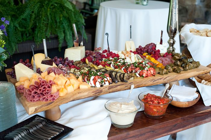 Receptions Food Displays And Prime Time On Pinterest: Appetizer Board - From Our Wedding Reception Menu