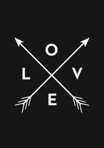LOVE AND ARROWS - BLACK. For more information Please take a moment to visit our website : https://www.hustleliving.com.au/