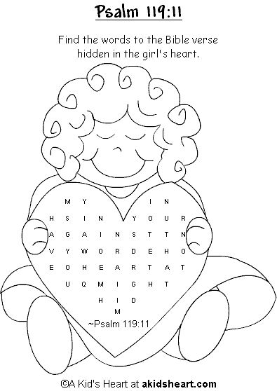 Bible Verse Activity Page to PrintPsalm