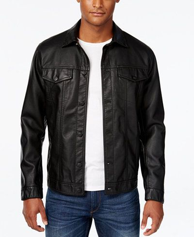 American Rag Men's Bandit Trucker Bomber Jacket, Created for Macy's
