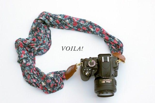 Crie uma alça exclusiva para sua câmera fotográfica.