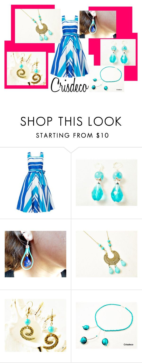"""Blue"" by cristina-birau on Polyvore featuring Phase Eight, trend, necklace, earrings and fashionset"