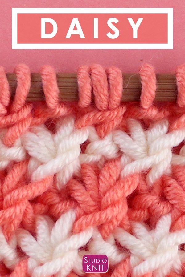 Das Gänseblümchenmuster stricken   – Studio Knit