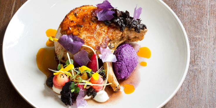 This beautiful, colourful pork chop recipe from Robert Ortiz reinvents a classic combination, pairing the meat with juicy prunes and red cabbage purée. A fantastic barbecue recipe for the summer, this dish includes a delicious pork marinade.