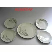 4 Pratos P/ Bolo C/ Prato De Bolo Em Porcelana Schmidt Cchic