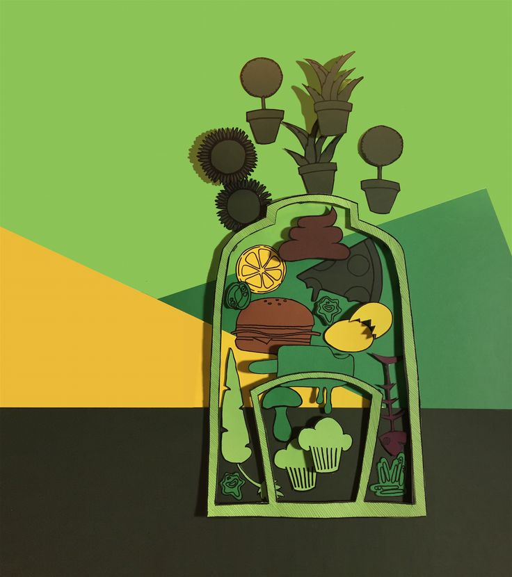 illustration - visual - cardboard / Martina Acetti Designer  ABC production + - abcreativedept