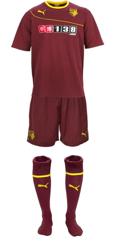 This is the new Watford away kit 2013/2014, Watford FC's new change strip for the forthcoming Championship season. The new WFC away kit has been made by Puma and was officially unveiled on Ju…