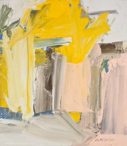 WILLEM DE KOONING. I love the thick, expressive, abstract application of paint in this piece.