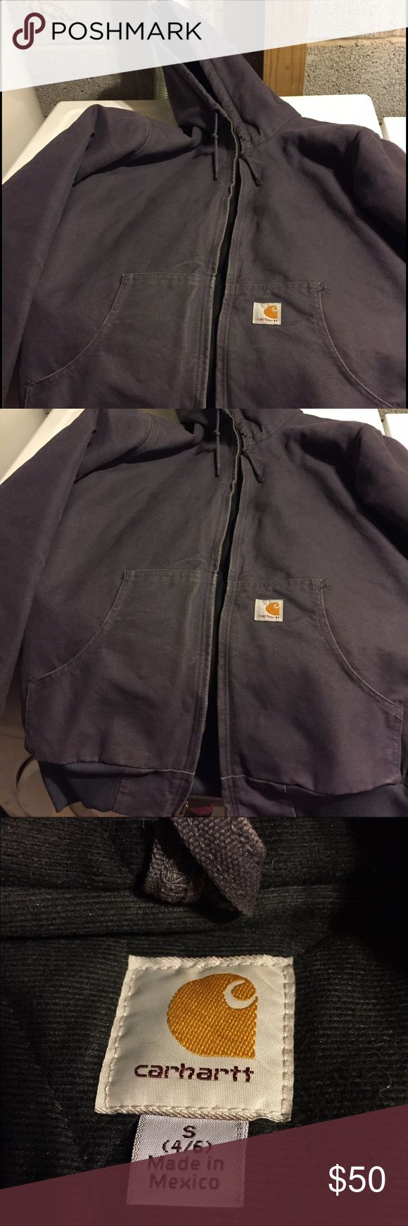 Carhartt winter coat/jacket Coal colored winter jacket. Coat is like a bluish/grey. I just don't wear it anymore because I also have a purple one. Worn, but like new! Carhartt Jackets & Coats