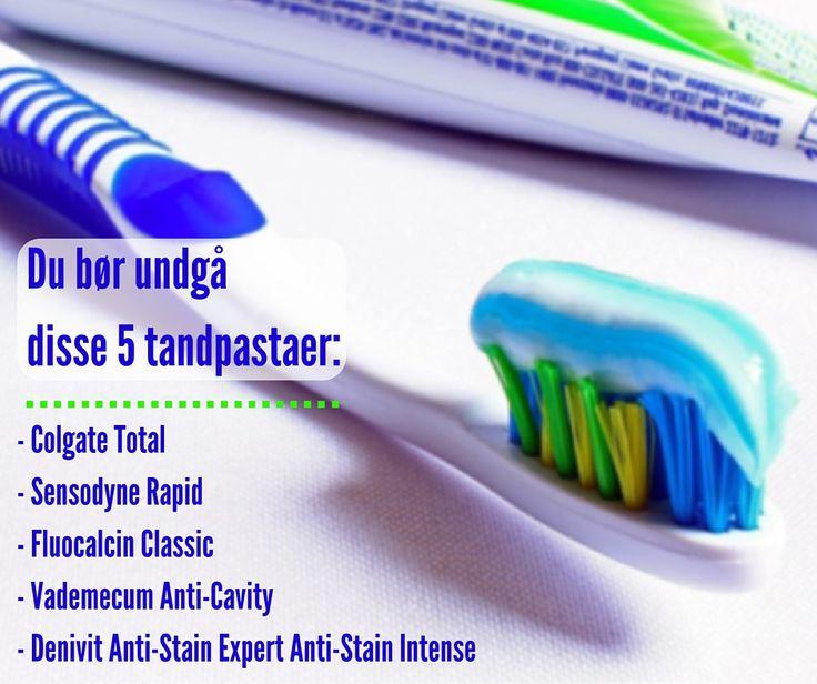Ifølge ny test fra Forbrugerrådet skal du holde dig fra disse fem tandpastaer, der kan indeholde hormonforstyrrende stoffer og skade kroppens organer.