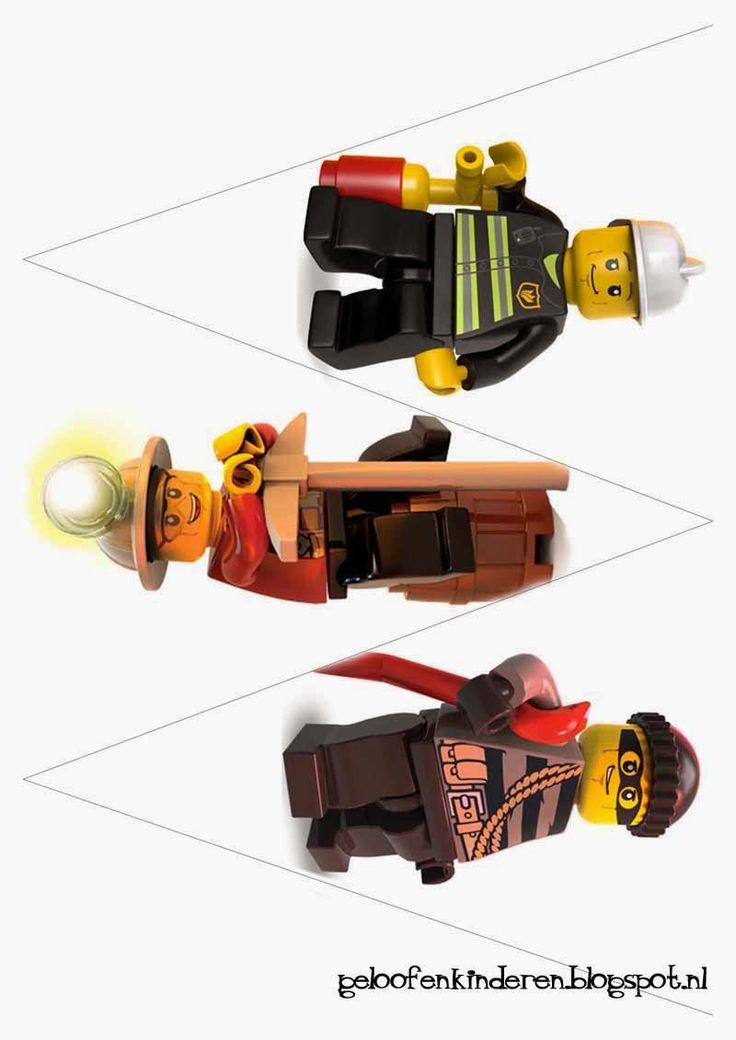 Kopje Thee(a): Lego kinderfeestje - Maak je eigen Lego vlaggetjes