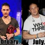 Tom Hardy`s transformation for his role in Batman