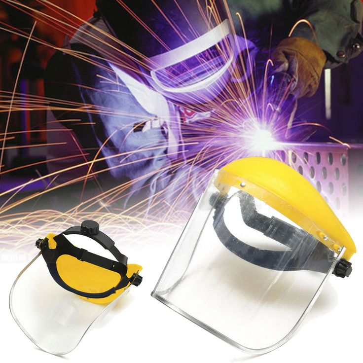 Adjustable Clear Face Visor Mask Shield Safety Workwear Eye Protection Gardening