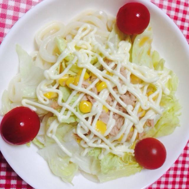 夏バテ中ご飯( ´・ω・) - 7件のもぐもぐ - ツナサラダうどん by hisumi751
