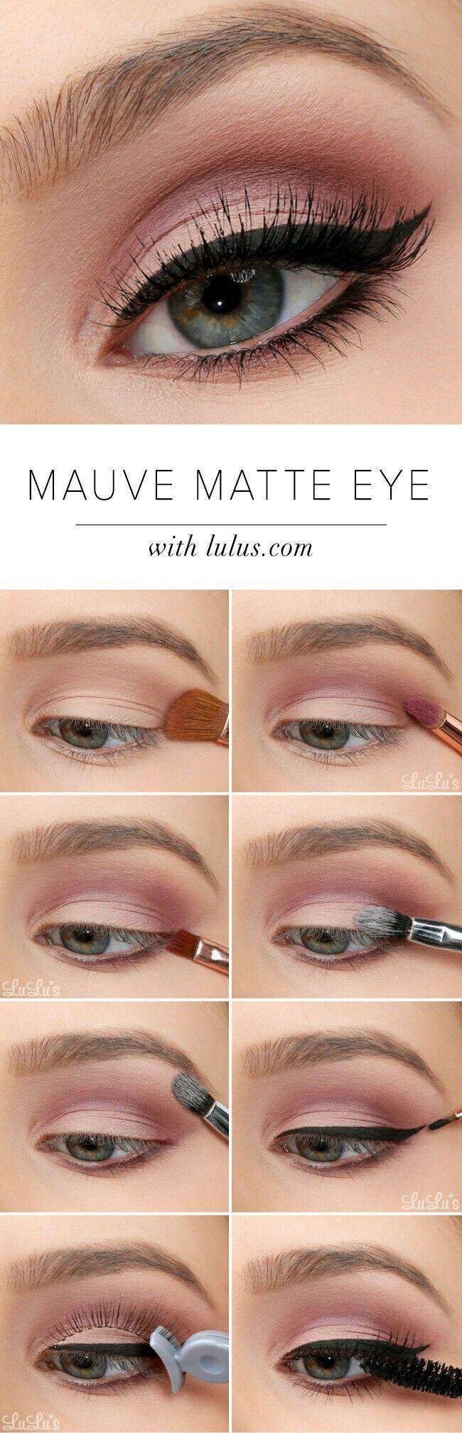 Mauve matte eye