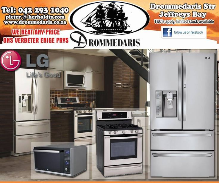 Life's Good with LG home appliances. Fall in love with your kitchen when you buy these amazing products from Drommedaris. We will beat any written quote on all our stock. #lifestyle #furniture #homeimprovement