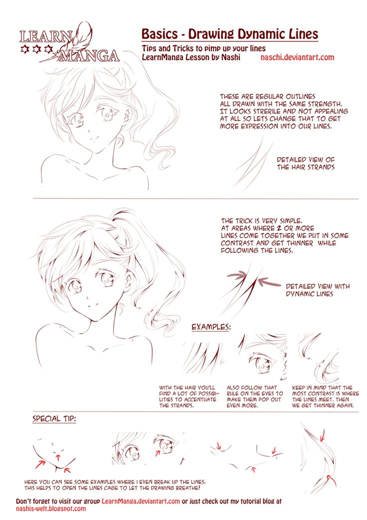 Learn manga dynamic lines by naschi on deviantart with