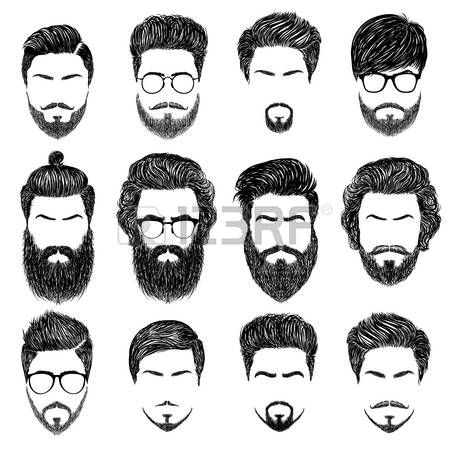 A set of mens hairstyles, beards and mustaches.Gentlmen haircuts and shaves. Dig… A set of mens hairstyles, beards and mustaches.Gentlmen haircuts and shaves. Beard Styles For Men, Hair And Beard Styles, Long Hair Styles, Facial Hair Styles, Mens Hairstyles With Beard, Haircuts For Men, Male Hairstyles, Drawing Hairstyles, Barber Haircuts