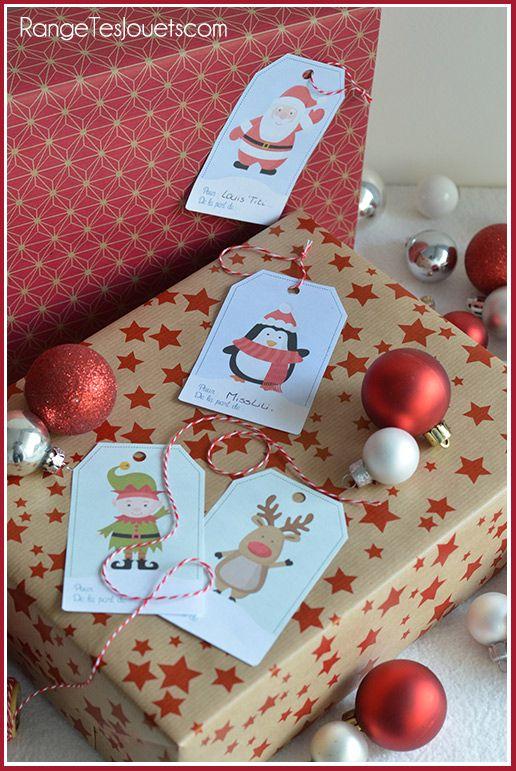 Étiquettes pour petits paquets cadeaux [Printable]   Range tes jouets !
