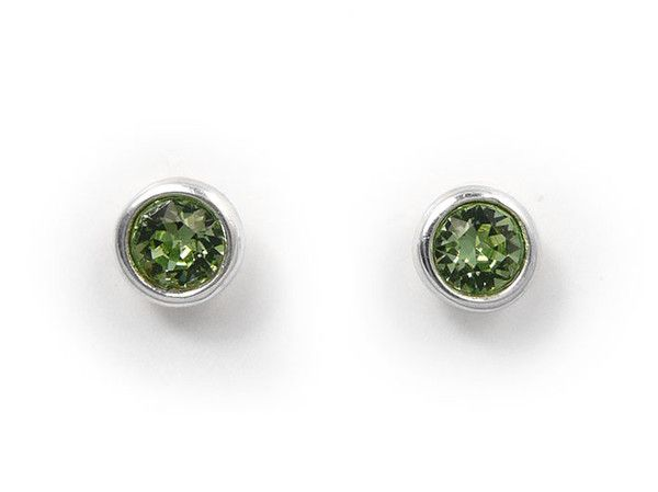 Birthstone Stud Earrings - August Peridot