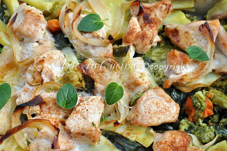 Pollo al forno con verdure ricetta light