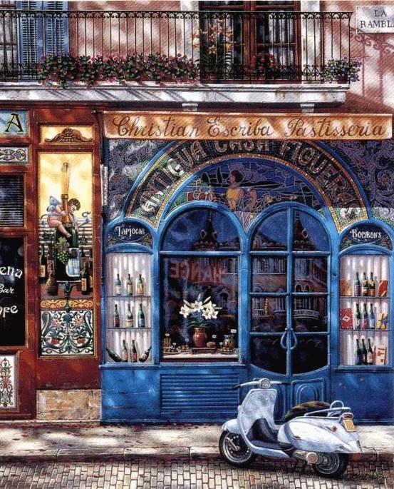 Barcelona, Antigua Casa Figueras by Luidmila Kondakova.