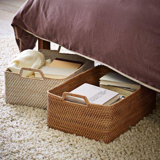Modern Weave Shallow Storage