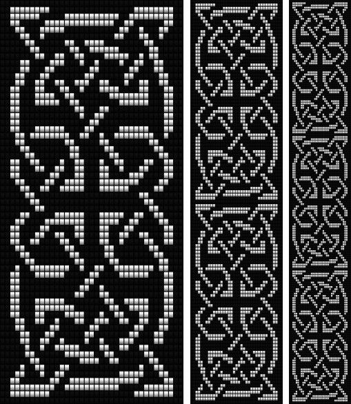 Celtic Knot Knitting Chart : Celtic knot loom bead patterns pinteres