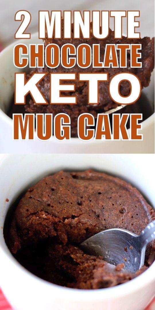 2-Minute Keto Chocolate Mug Cake (with Video)