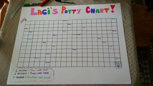 homemade potty training sticker chart  such an awesome
