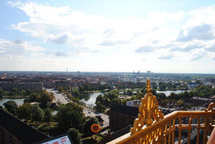 The view from the top of Vor Frelsers Kirke in Copenhagen.