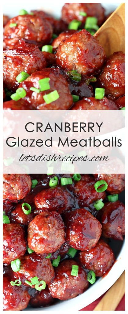 Quick Cranberry Glazed Meatballs Recipe | Cocktail meatballs in a sweet and savory cranberry glaze. The perfect holiday appetizer!