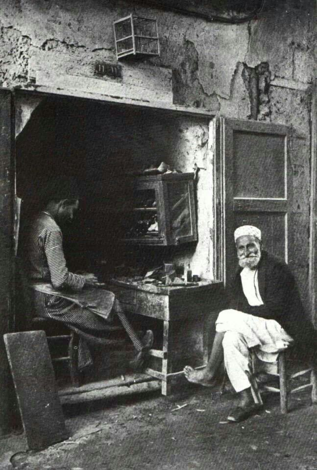 Shoe maker from Yafa - Palestine - 1925