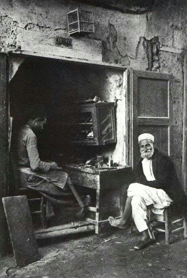 Shoe maker from Yafa - Palestine - 1925