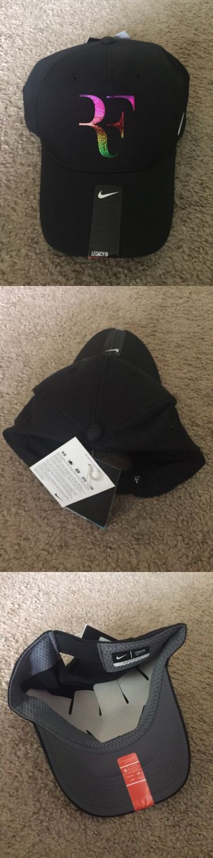 Hats and Headwear 159160: New Nike Roger Federer Tennis Hat Black Rainbow Rf Logo -> BUY IT NOW ONLY: $30 on eBay!